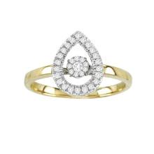 Joyería del anillo de diamante del baile del oro 18k con el ajuste micro