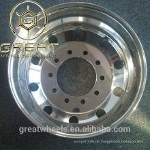Polierte Aluminium-Halbwagenräder 22.5, 24.5, 17.5