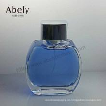 Einzigartiges Design runde geformte Glasflasche für Parfüm