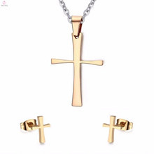 Gold Celtic Crosses Vintage Stud Earrings Jewelry Sets
