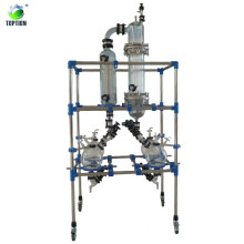 Laboratory thin film evaporator for solvent seperation