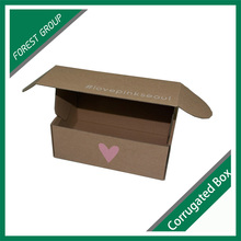 Kundenspezifische bedruckte Wellpappe braun gewölbte Verpackungsbox ohne Kleber