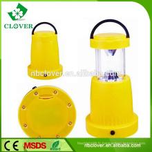 Équipement de camping portable camping light hand utilisant 11 + 8 LED petite lanterne de camping