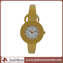 Ultra-Thin Watch Fashion Contracted Quartz Watch. All Stainless Steel Women′s Bracelet Watch