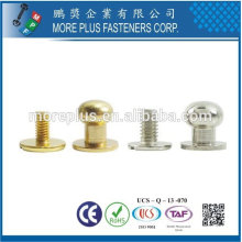 Taiwan Acier inoxydable 18-8 Boucles d'oreilles CNC Screw Back Button Bracelet à vis Screw