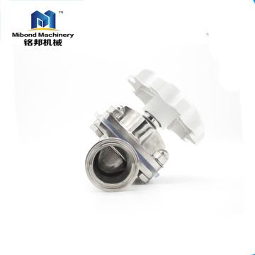 China zuverlässiger Hersteller Sanitary Stainless Steel Brewing PTFE-Regelventil Membranventil