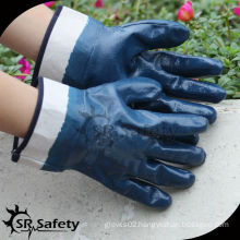 SRSAFETY nitrile gloves heavy duty for oil industrial use working gloves