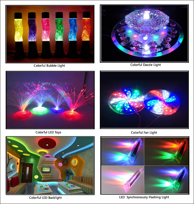 Multi color LED application