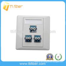 Placa Frontal / placa de pared de fibra óptica duplex LC de 3 puertos