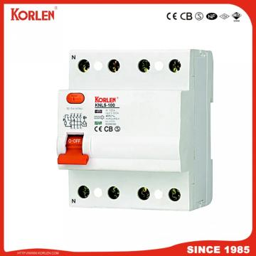 Korlen Patented Residual Current Circuit Breaker RCCB Knl5-100 30, 100, 300, 500mA dengan IEC61008-1