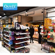 High Quality Shelves For Sale Metal Fruits And Vegetables Gondola Shelving Supermarket Shelf  Rack Wooden Supermarket Shelf