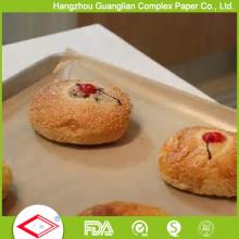 Papel de cocina de galleta de panecillo de papel de hornear recubierto de color marrón sin blanquear 300x400 mm