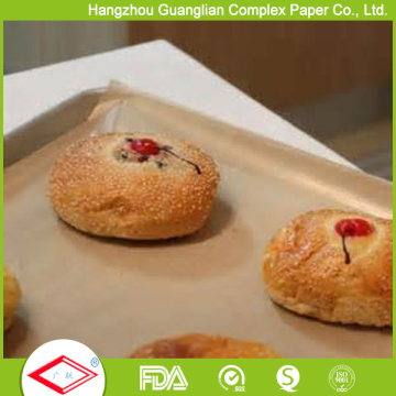 Unbleached Brown Color Coated 300X400mm Papel De Cozimento Muffin Biscuit Papel De Cozinha