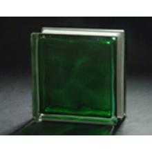 190 * 190 * 80mm grüner in-farbiger bewölkter Glasblock