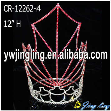 12''Large Red Maple Leaves Pageant Tiara