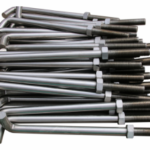 L Anchor Bolts with Nuts and Washer Carbon Steel Fastener Foundation Bolts