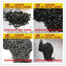 70-95% fixe Kohlenstoff-Anthrazitkohle zur Trinkwasseraufbereitung / Anthrazitkohle