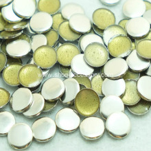 3mm Flat Round Nailheads Iron-On Silver Tone