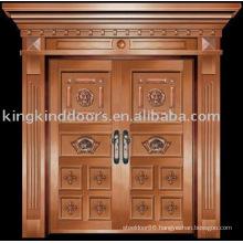 luxury copper door villa door exterior door double door KK-718