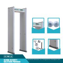 6 Zonas 20 Nivel de seguridad Puerta Marco Detector de metales
