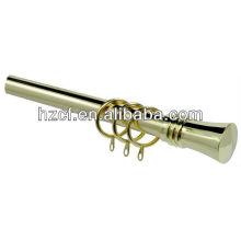electroplate curtain rods, decorative curtain finial, decorative triple curtain rod bracket