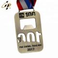 Benutzerdefinierte Flaschenöffner Marathon Metall Medaille