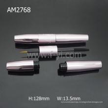 Botella de rímel de aluminio grande 2 en 1 rímel Shiny Empty Packaging
