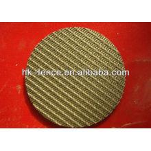 Fabricación de discos de malla de alambre de cobre