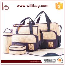 Hot Selling High Quality 5pcs Set Baby Diaper Microfiber Bag