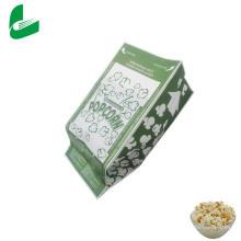 White kraft greaseproof microwave popcorn paper bags