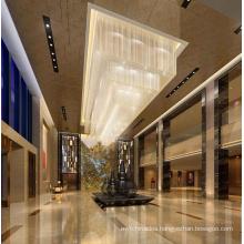 Guzhen rectangular k9 crystal chandelier lobby pendant light modern chandelier light