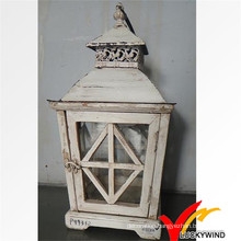 Shabby Chic Outdoor Star Wooden White Lanterns