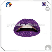 Fashionable water transfer printing temporary lips tattoo stickers