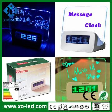 China Led Latar Malam Lampu Penggera Jam Digital Dengan Papan Mesej Berkualiti Tinggi Led Latar Malam Lampu Penggera Jam Digital Dengan Papan Mesej Pada Bossgoo Com