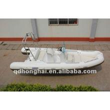 CE rib580 fibra de vidro com pvc ou o hypalon barco inflável