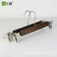 pear nickel fittings hand brush finish wooden pant hanger