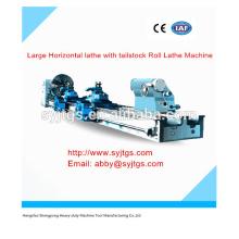 Máquina de torno horizontal grande com tailstock Máquina de torno de rolo Preço para venda quente em estoque