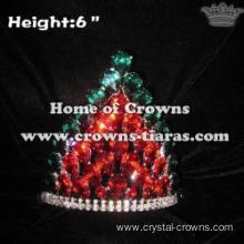 Red Green Crystal Diamond Lighting Up Crowns