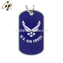 Hot sell custom enamel military metal dog tag with necklace