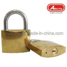 Candado de hierro chapado en oro o cromo (305)