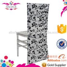 new design fancy flocking wedding chair cover