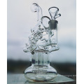 New Arrival 8 Mixed Borosilicate Pyrex Recycler Faberge Egg DAB Oil Rigs Glass Smoking Water Pipe