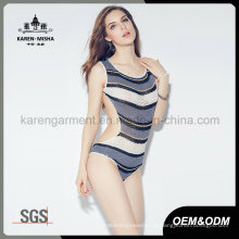 Ladies neuesten Design Beach Wear gestreiften Tankini stricken