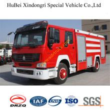 Caminhão de bombeiros Euro3 da água de 8ton Sinotruk