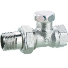 J3011 válvula de tope de latón cromada