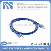 High Quality Blue USB 3.0 Kabelkabel Stecker auf Stecker Für PC und Mac kompatibel