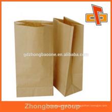Popular fornecedor kraft papel bolsas com gusset lado pacote para chá