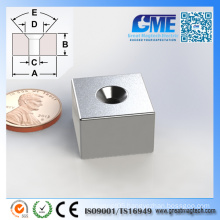 Strong F19.05X19.05X12.7mm Block Counterbore Neodymium Magnet