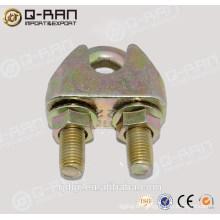 Abrazadera de cable DIN1142 maleable plateado cinc