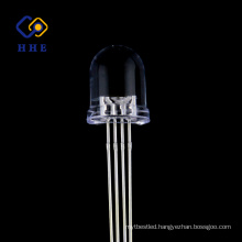 High brightness 8mm round RGB led Common Anode water clear diode prices